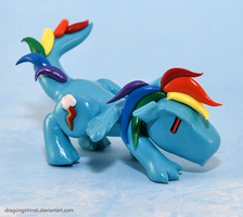 My Little Pony-dragons: Rainbow Dash by HowManyDragons
