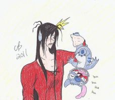 Rayne and...Stitch??? by KeeperOfCoffins