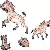 Hyena sketches- colored by CrazyCrocuta