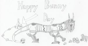 Happy Bunny Day by mordrelupis