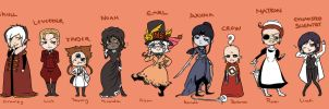 DGM Halloween Chibis by Silly-Blue
