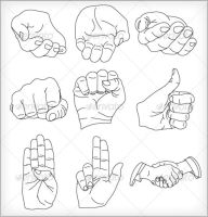 9 Vector Hands Illustrations by ahmadhania