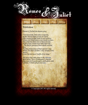 Romeo and Juliet website by GrimmOkami