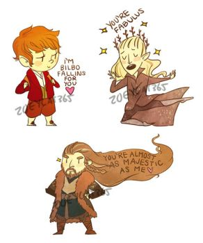 The Hobbit sticker valentines by zoeycat365