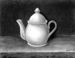 Still Life charcoal drawing by pinsetter1991