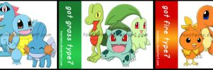 Got Series: Pokemon Starters by ToonTwins