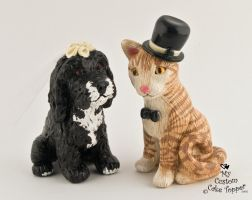 Leigh Anne's Cat and Dog by Hollys-Art