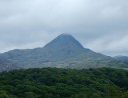 View of Mount Cnicht from Welsh Highland Railway by rlkitterman