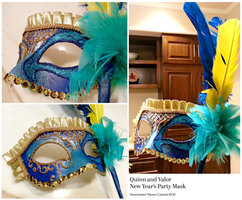 Quinn and Valor Mask by MochisSketchbook