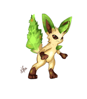 Leafia The Leafeon by LizardonEievui13