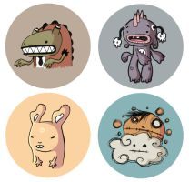 BUTTON CHARACTERS by Bisparulz