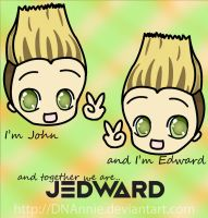 Together we are.. Jedward by DNAnnie