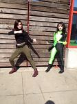 Shego and Kim II by VaguePurple