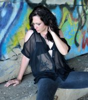 Natalie C - lingerie and graffiti 1 by wildplaces