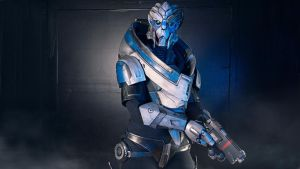 Garrus Ready for Battle by Gryz