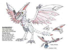 OMG SKARMORY EVOLUTION by FawkesTheSkarmory