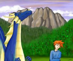 Rachel and the Blue Dragon by SnowCrasher