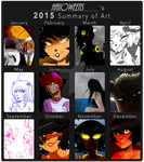 2015 Art Summary by haIIoweens