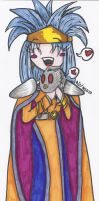 Queen Zeal and Lavos Chibi by LordBlumiere