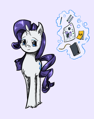 Rarity - Starlit ideas. by dreamingnoctis