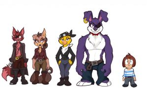 FNAF - Foxy's Pirate Crew! by Kayla-Na