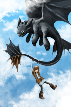 Toothless by StormTitan