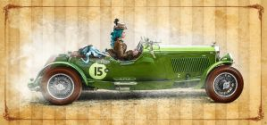 Vintage race days ... Otto and Victoria .. Cosplay by S-T-A-R-gazer