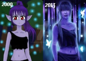 Draw this again! - Elven night, before and after by jaoosa