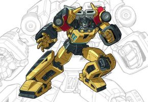 IDW G1 Card - Sunstreaker by GuidoGuidi
