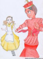 Alice and the Red Queen by Inverted-Jabberwocky