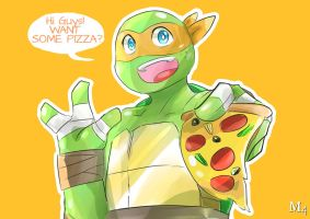 Quick Draw - TMNT Pizza Anyone? by Marini4