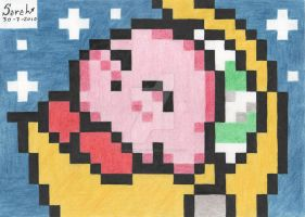 Kirby pixels 30-7-2010 by SarahRasmical