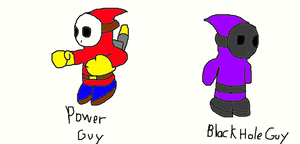 Power Guy and Black Hole Guy by SurgeCraft