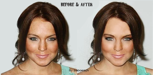 retouch lindsay lohan by baboesch