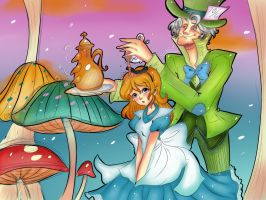 Alice in wonderland by Invader-celes