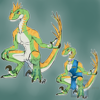 [Cash - Point Adopt] - Velociraptor Anthro SOLD by Linkaton