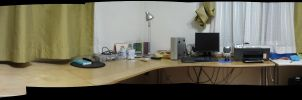 panoramic photop of my desk by will-yen