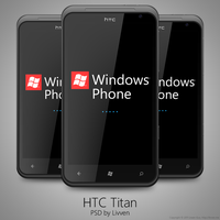 HTC Titan Windows Phone 7 PSD by Livven