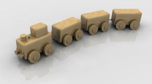 Another wooden train by SmeggInk