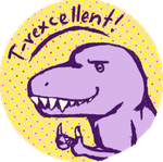 T-rex stamp of approval by 101WildChild101