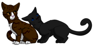 Couple Number Three: Leafpool and Crowfeather by miudream