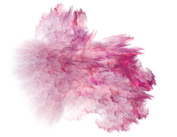 Pink Nebula Fractal PNG by Moonchilde-Stock