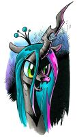 Changeling Chrysalis marker sketch, My Little Pony by andypriceart