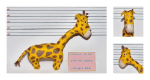 Gina, the three legged giraffe by Elissya