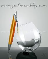Glass and pen by ginL