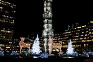 Stockholm Decorated for Christmas by CChrieon
