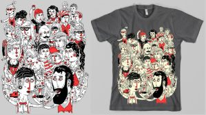 Party people T-shirt design by Haluzz