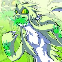Fakemon: Kaboing used Fire Blast ~SHINY~ by paje-chan
