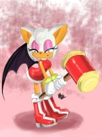 Rouge as Amy Rose by AllieoftheShire