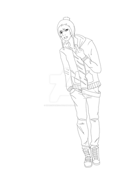 Lineart - Craig Tucker by indecisivenico